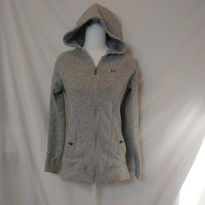 Under Armour Gray Zip Front Hooded Jacket